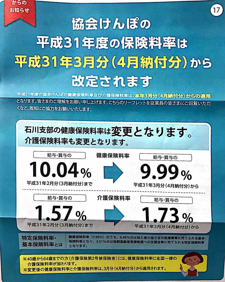料率 社会 保険